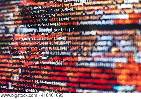 Software Abstract Background. Pc Software Creation Business. Abstract Source Code Background. Www So