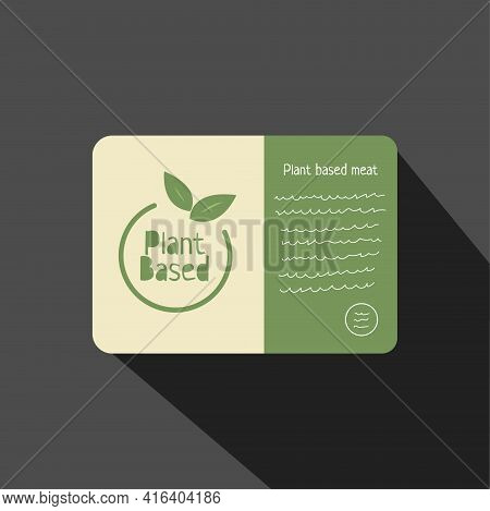 Plant Based Flat Style Hadnt Drawn Icon. Vegan Food. Ecology Friendly Food. Logo In Line Style. Eco