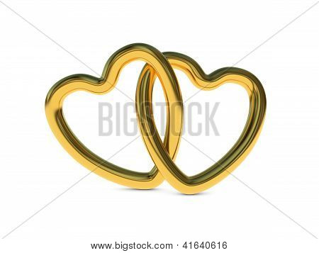 Intertwined Gold Heart Rings
