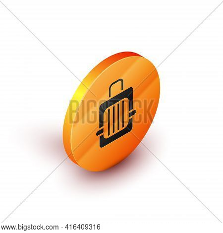 Isometric Pet Carry Case Icon Isolated On White Background. Carrier For Animals, Dog And Cat. Contai