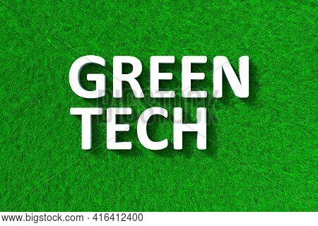Green Tech Green Grass Meadow Background 3d Illustration