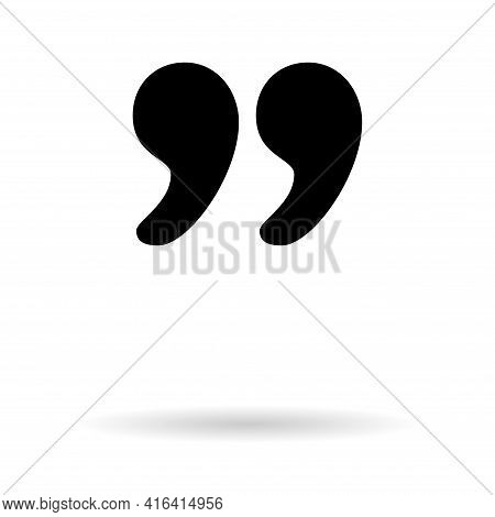 Quote Concept Icon, Quotation Speech Bubble Symbol, Vector Illustration Dialog Sign, Text Mark Graph