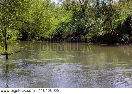 Lower Hermon River - Banias, In The Upper Galilee In Northern Israel