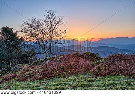 Sunrise In Snowdonia National Park In Wales, Uk