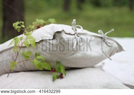 Flax Bed Linen, Flax Pillowcase, Eco Pillowcase