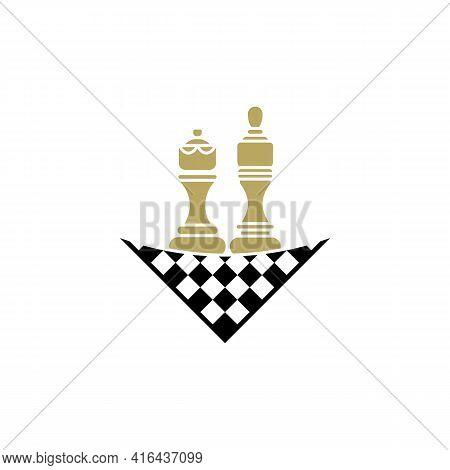 Chess Logo Design Vector Illustration, Creative Chess Logo Design Concept Template, Symbols Icons