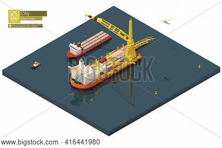 Vector Isometric Pipe Laying Vessel, Pipe Lay Ship