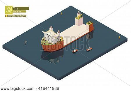 Vector Isometric Heavy Lift Vessel Or Ship