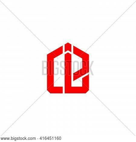Letter Ce Simple Geometric Linear Logo Vector