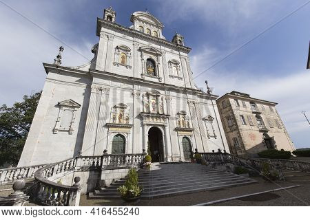 View Of The Church At Varallo Holy Mountain