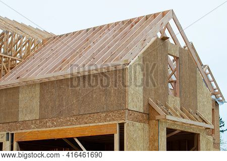 Rafters A New Plywood House Roof Frame