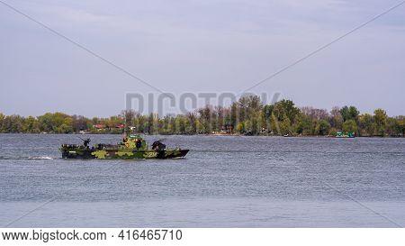RpČ-214 Morava Type 20 Biscaya-class River Patrol Boat Of The Serbian River Flotilla On The Danube R