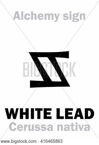 Alchemy Alphabet: White Lead (cerussa Nativa), Also: Spirits Of Saturn, Ceruse, Etc. Lead Carbonate,
