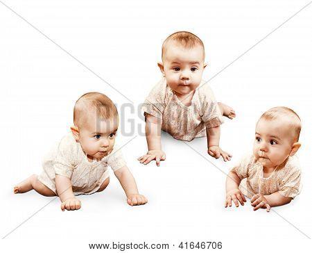 Crawling Little Baby Girl
