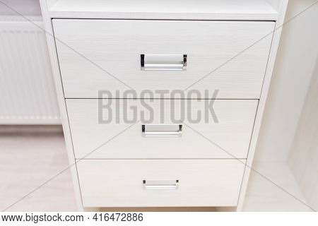 Cabinet Furniture, Chest Of Drawers, Light Color, Close-up