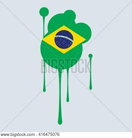 Brazil Flag. Brazil Banner. America South Flags. Celebration. Flag Day.
