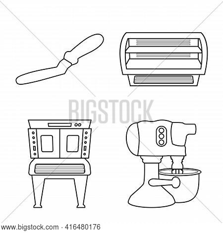 Isolated Object Of Bakery And Natural Sign. Set Of Bakery And Product Stock Symbol For Web.