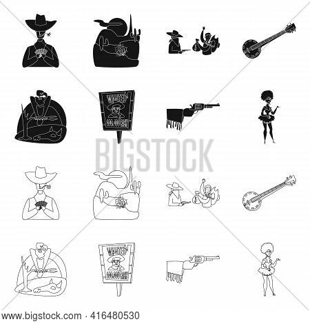 Vector Design Of Texas And History Logo. Collection Of Texas And Culture Vector Icon For Stock.