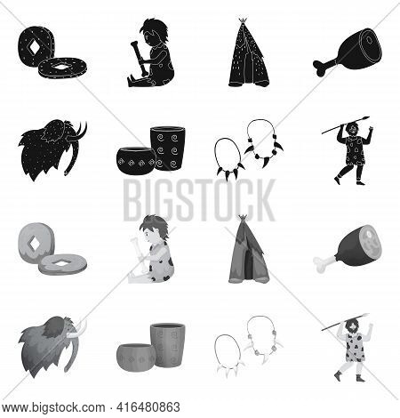 Isolated Object Of Evolution And Neolithic Sign. Set Of Evolution And Primeval Vector Icon For Stock