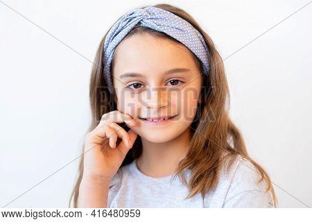 Confident Child Portrait. Positive Attitude. Inspiration Motivation. Enthusiastic Proud Smart Cheerf