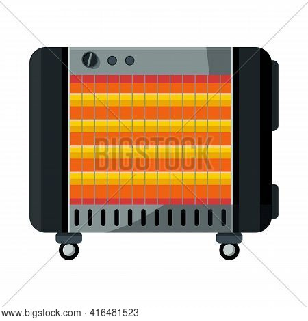 Vector Illustration Of Heater And Device Logo. Web Element Of Heater And Oven Vector Icon For Stock.