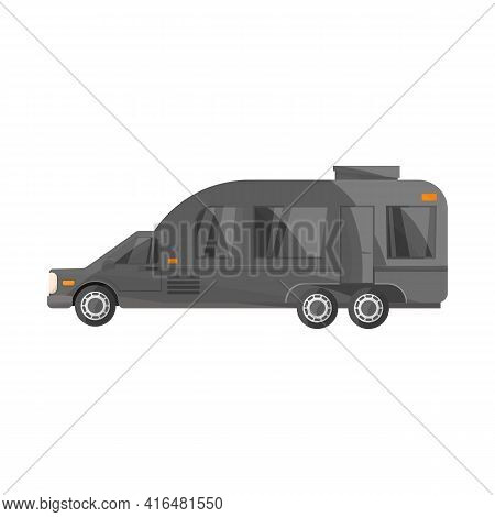 Vector Design Of Auto And Van Symbol. Web Element Of Auto And Hearse Stock Vector Illustration.