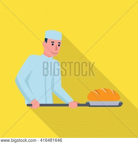 Vector Design Of Baker And Spatula Sign. Collection Of Baker And Bread Stock Vector Illustration.