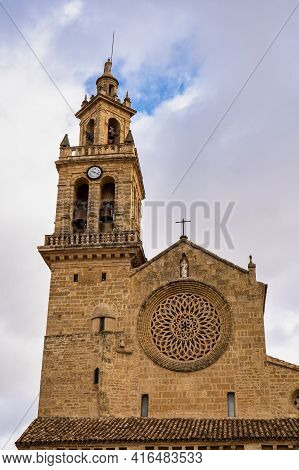 San Lorenzo Church In Cordoba, Andalusia, Spain. It Was Built Between Around 1244 And 1300 In A Tran
