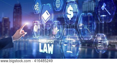 Bankruptcy Law Concept. Financial Background. Insolvency Law. Judicial Decision Lawyer Business Conc