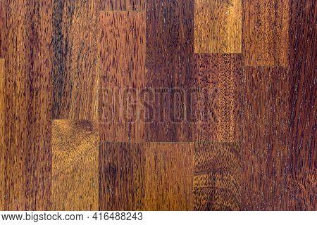 Detailed Dark Wooden Floor Texture Or Background
