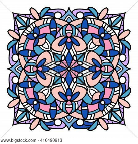 Decoration Mandala Icon. Hand Drawn And Outline Illustration Of Decoration Mandala Vector Icon For W