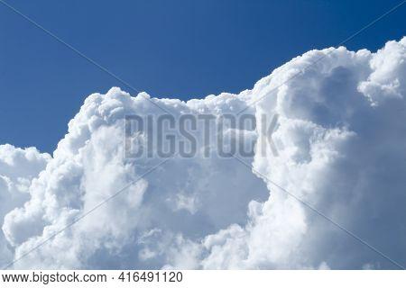 Sky With Big Cumulonimbus Clouds In Spain