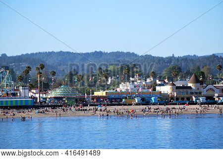 Santa Cruz, Ca. April 29, 2017. Circa: Santa Cruz Is A Famous Tourist Attraction In California.