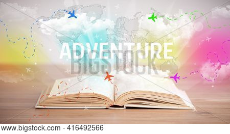 open book, vacation concept concept