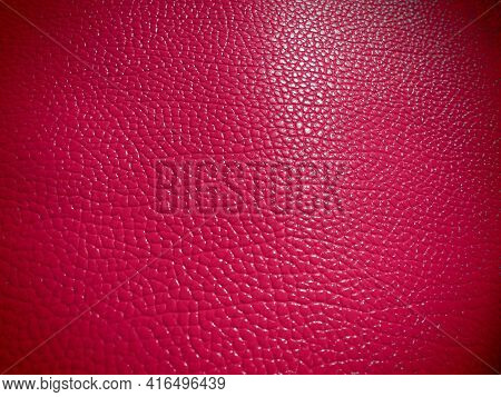 Red Or Pink Leather. Material For Fashion Accessories, For Sewing Leather And Suede Products, Furnit