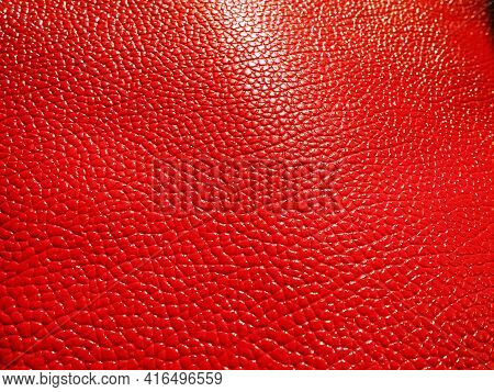 Red Leather. Material For Fashion Accessories, For Sewing Leather And Suede Products, Furniture Upho