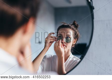 Facial Skin Care Against Wrinkles And Dark Circles Under Eyes