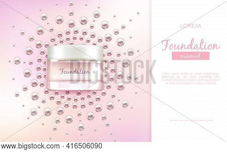 Face Moisturizing Cream Or Essence 3d Realistic Vector Advertising Banner, Promo Poster With Glass T