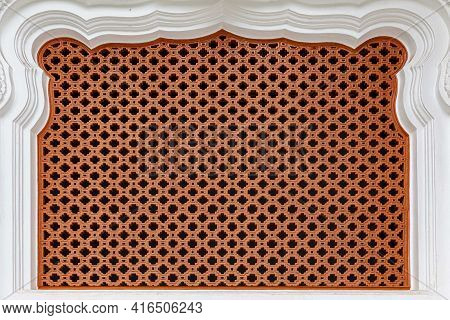 Brown Vented Cement Block Pattern And Background Seamless