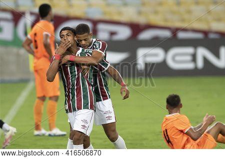Rio, Brazil - April 11, 2021: John Kennedy Player In Match Between Flamengo V Nova Iguacu By Carioca