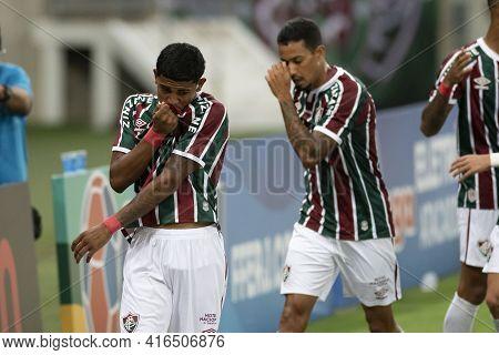 Rio, Brazil - April 11, 2021: John Kennedy Player Celebrate In Match Between Flamengo V Nova Iguacu
