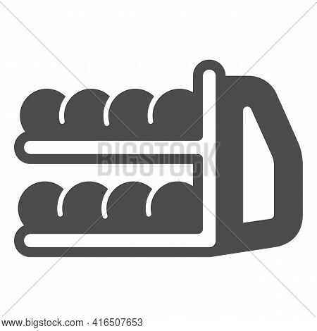 Bowling And Ball Return System Solid Icon, Bowling Concept, Bowling Equipment Sign On White Backgrou