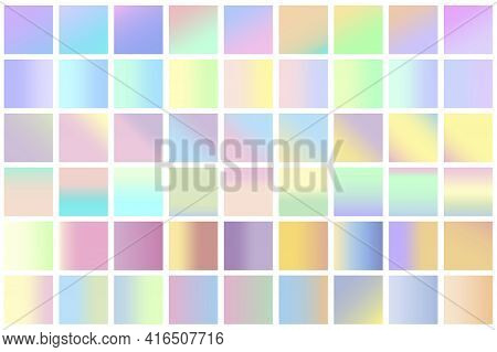 Seamless Pattern With Colored Pastel Squares. Stock Image. Vector Illustration. Eps 10.