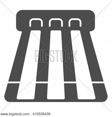 Bowling Alley Solid Icon, Bowling Concept, Strike Sign On White Background, Bowling Lanes For Balls