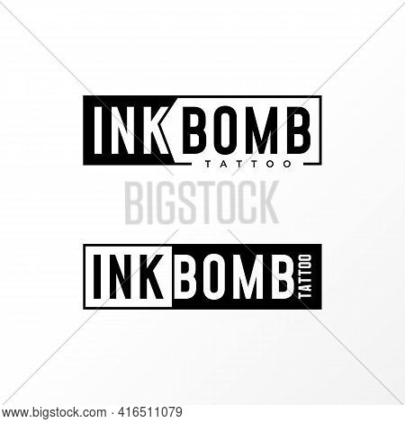 Letter Ink Bomb Logo Design Concept. Can Be Used As A Symbol Related To Tattoo.