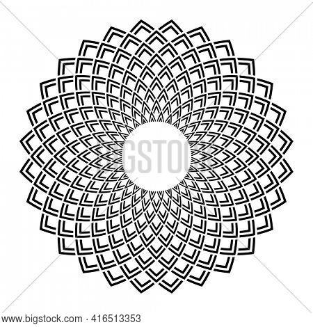 Abstract decorative geometric circle pattern.