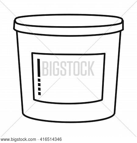 Isolated Object Of Bucket And Putty Logo. Graphic Of Bucket And Plastic Stock Symbol For Web.