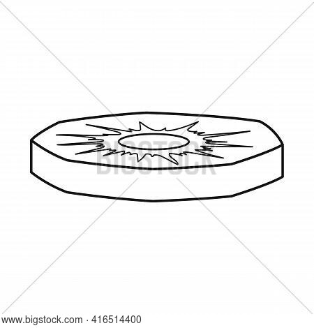 Vector Design Of Slice And Ananas Sign. Graphic Of Slice And Fresh Vector Icon For Stock.