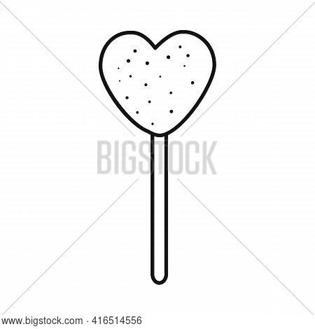 Vector Illustration Of Lollipop And Heart Symbol. Graphic Of Lollipop And Sweet Stock Vector Illustr