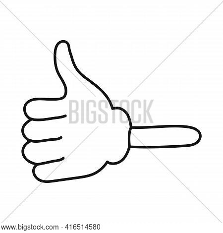 Vector Illustration Of Finger And Gesture Symbol. Graphic Of Finger And Fine Stock Vector Illustrati
